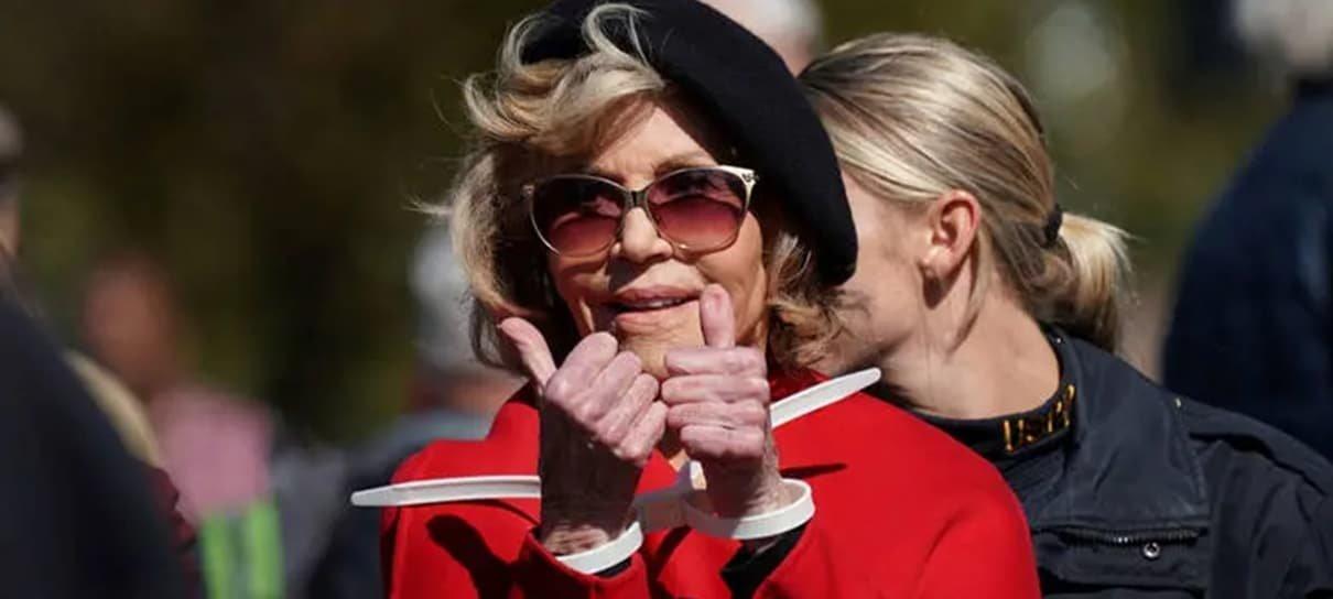 Jane Fonda é presa (de novo) por protestar contra mudanças climáticas