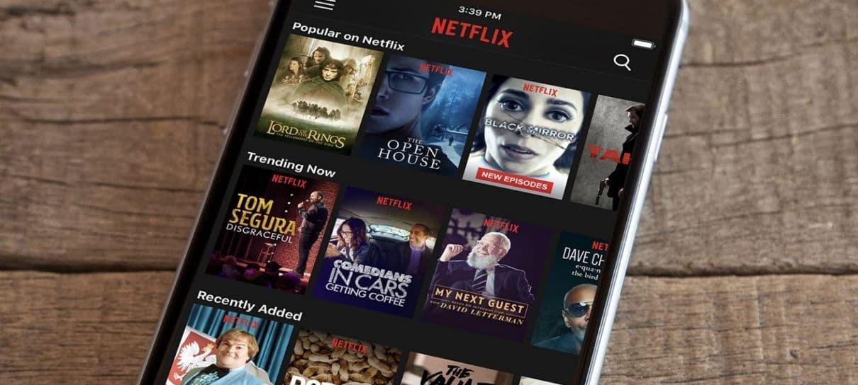 Netflix testa função para mudar a velocidade dos vídeos