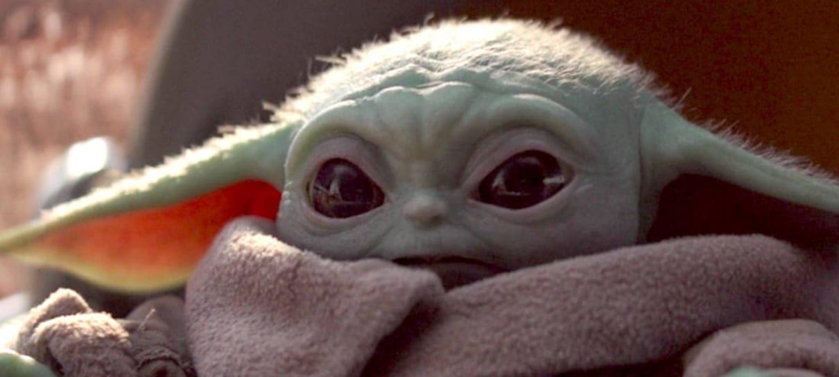 Os GIFs do Baby Yoda foram retirados da internet por causa de direitos autorais