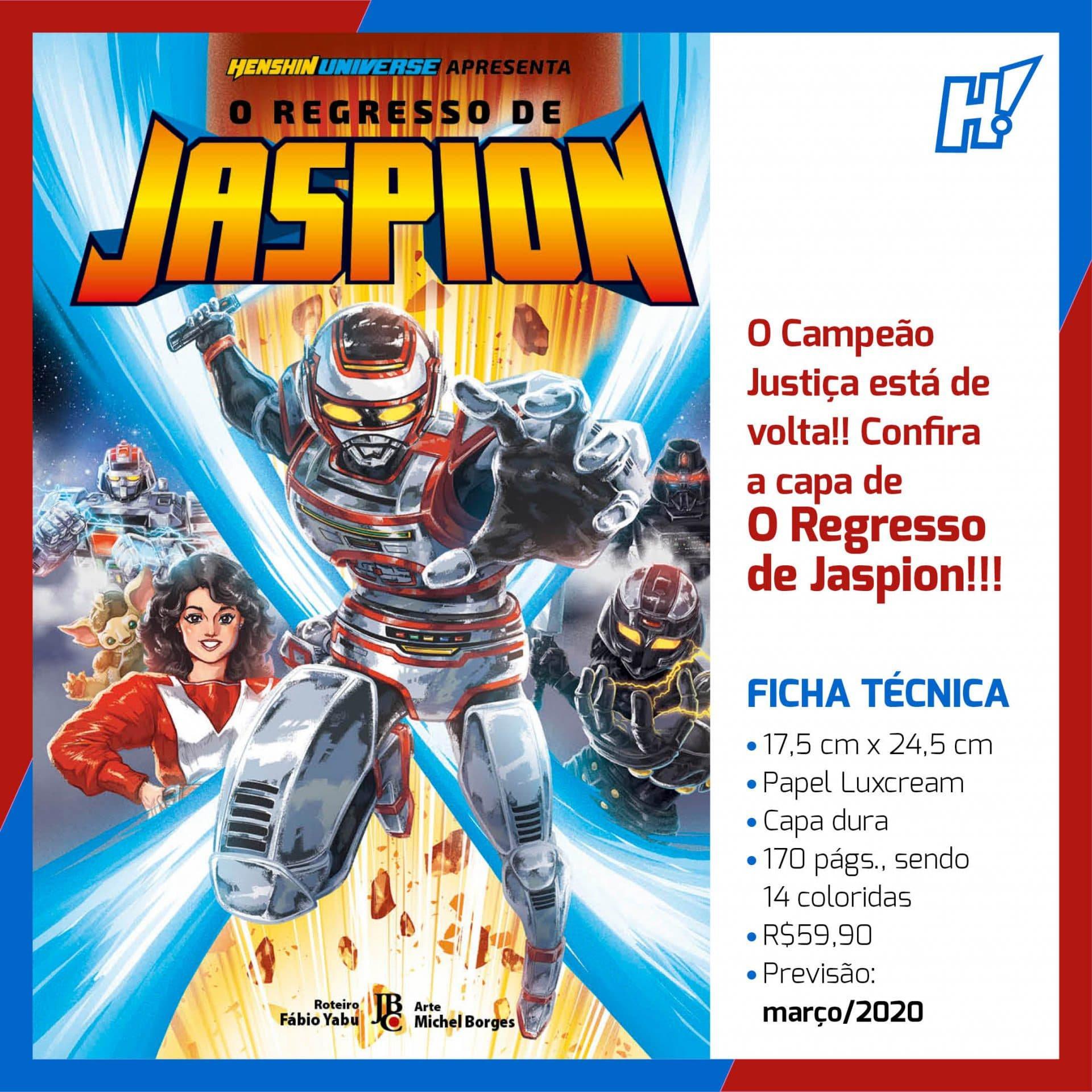 O Regresso de Jaspion | Manga brasileiro do herói ganha capa
