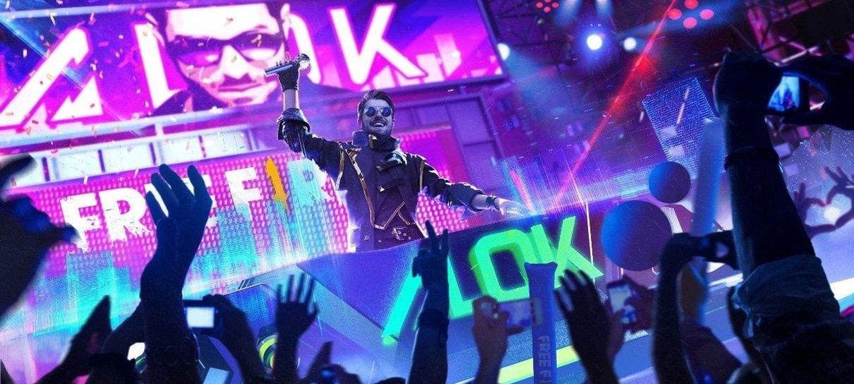 Garena anuncia DJ Alok como personagem em Free Fire