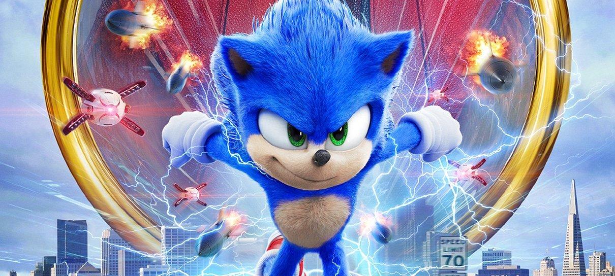 Sonic: O Filme ganha cartaz com o Dr. Robotnik e o novo visual do ouriço