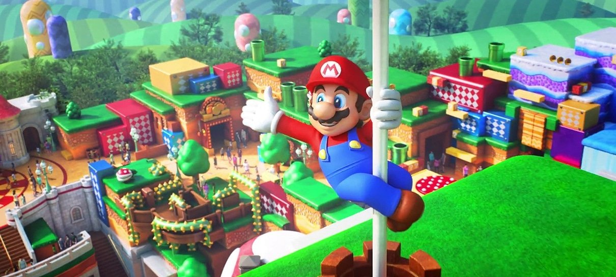 Universal Studios Japan revela nova arte do parque Super Nintendo World