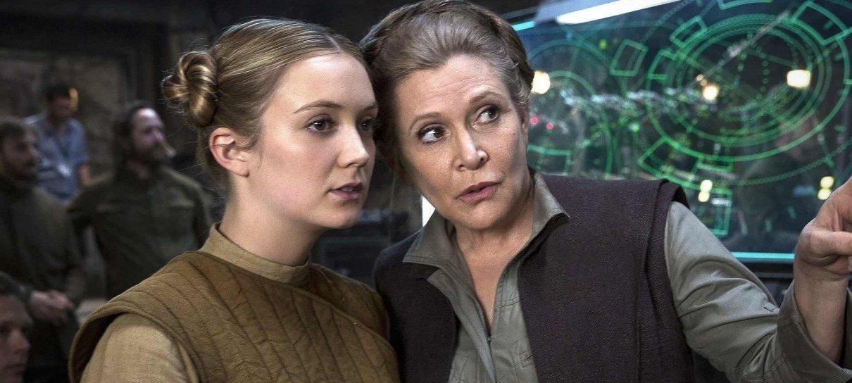 Billie Lourd, filha de Carrie Fisher, faz homenagem à mãe