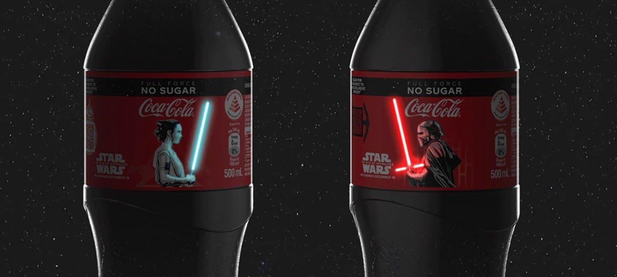 Coca-Cola lança garrafa com sabres de luz que acendem