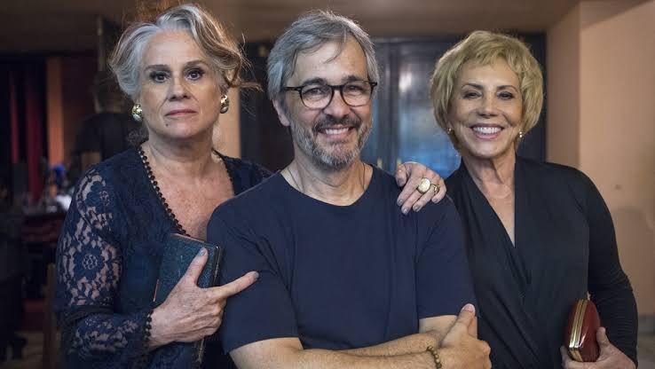 Vera Holtz, Paulo Silvestrini e Arlete Salles nos Bastidores de Eu, a Vó e a Boi