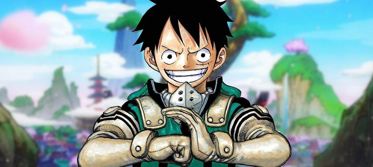 Eiichiro Oda, autor de One Piece, mostra fanart feita pelo autor de My Hero Academia