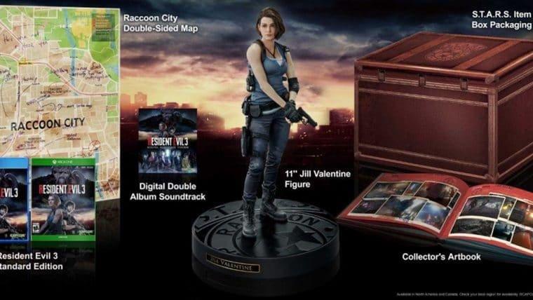 Resident Evil 3   Edição de colecionador tem figure da Jill, caixa da S.T.A.R.S e mais