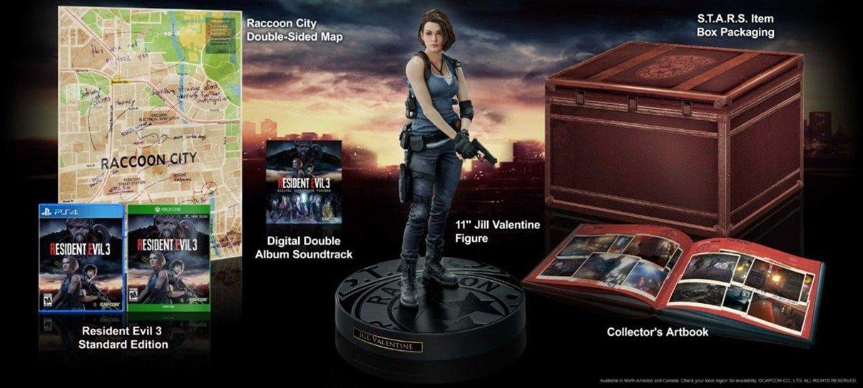 Resident Evil 3 | Edição de colecionador tem figure da Jill, caixa da S.T.A.R.S e mais