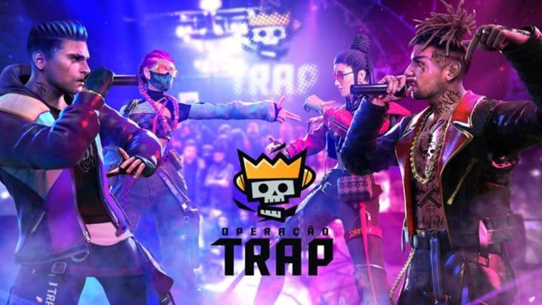 Free Fire lança grupo musical T.R.A.P. e jogadores podem desbloquear os visuais no jogo