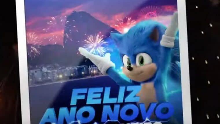 Sonic: O Filme | Ouriço dá um pulinho no Brasil em vídeo de ano novo