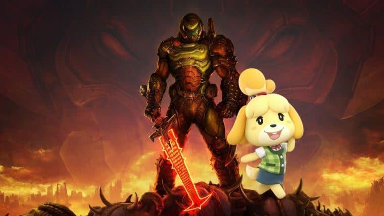 Fãs de Animal Crossing e Doom estão fazendo artes misturando os dois jogos