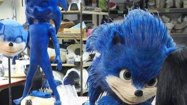 Sonic: O Filme | Boneco usado durante as gravações é detalhado e um pesadelo