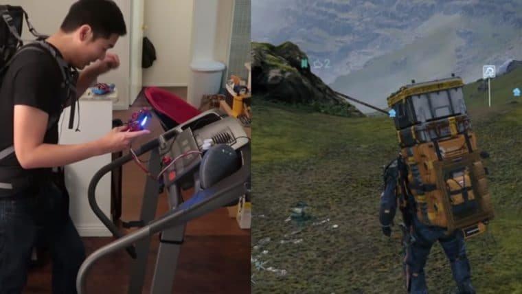 Jogador transforma esteira em controle para jogar Death Stranding