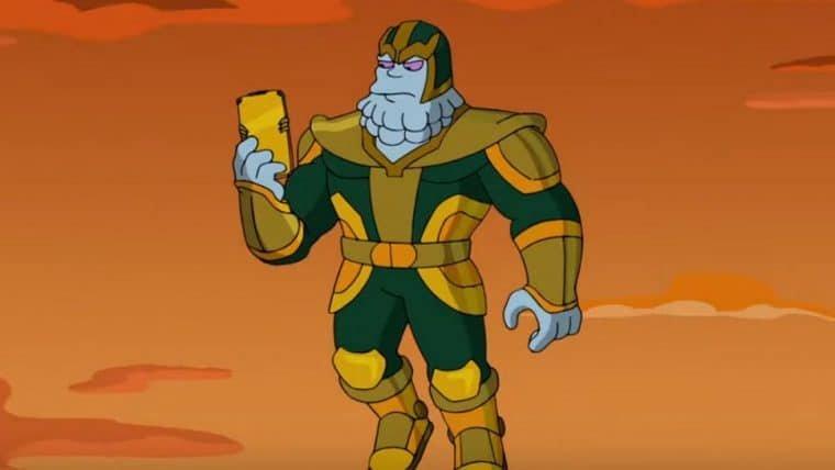 Os Simpsons   Confira a versão do Thanos dublada por Kevin Feige