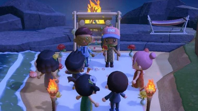 Festa de casamento cancelada por pandemia é recriada no Animal Crossing