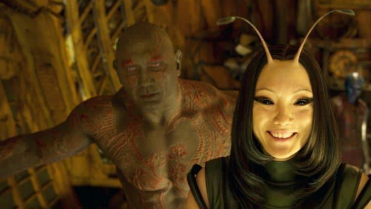 James Gunn quer um filme estrelado por Drax e Mantis, de Guardiões da Galáxia