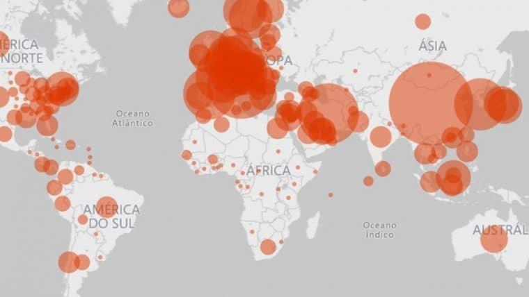 Microsoft lança mapa interativo que registra os casos de coronavírus pelo mundo