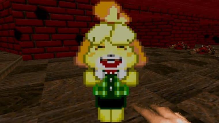 Mod coloca Isabelle, de Animal Crossing, como um NPC acompanhante em Doom II