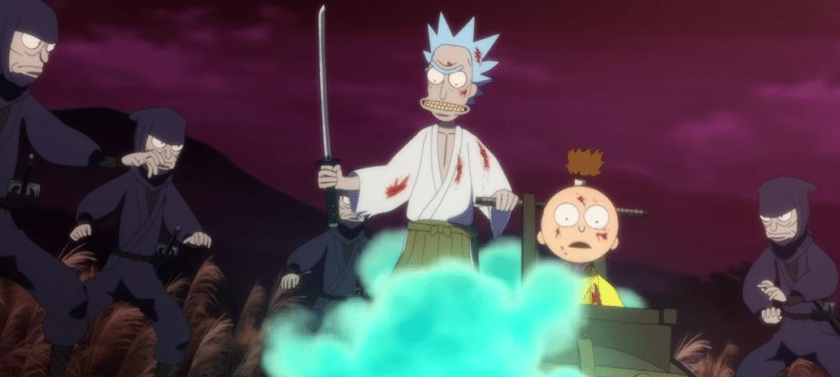 Rick and Morty | Curta-metragem de anime é homenagem a Lobo Solitário