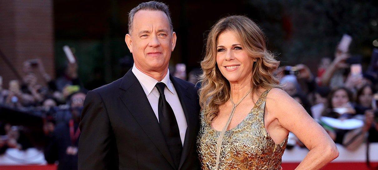 Tom Hanks e Rita Wilson deixam hospital na Austrália