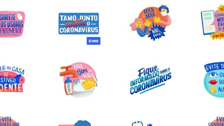 Whatsapp e Ministério da Saúde lançam figurinhas relacionadas ao combate do coronavírus