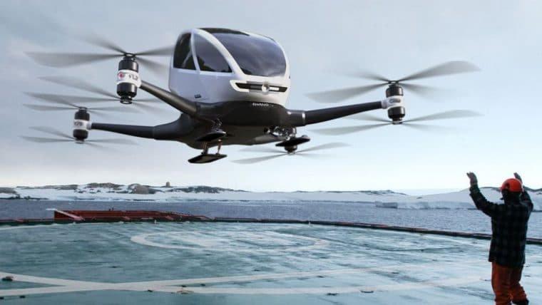 China planeja construir o primeiro aeroporto para veículos aéreos autônomos