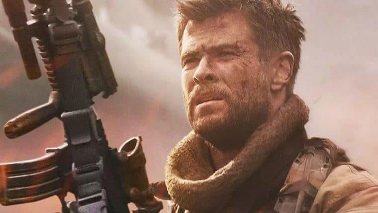 Chris Hemsworth mete a porrada em cenas de Resgate, da Netflix