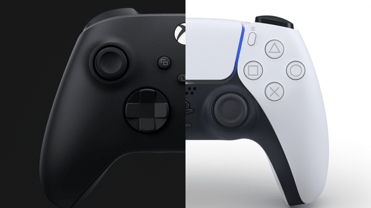 Compare o controle do PS5 e do Xbox Series X