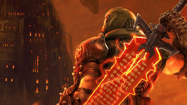 Doom comemora lançamento de Final Fantasy VII remake com arte crossover