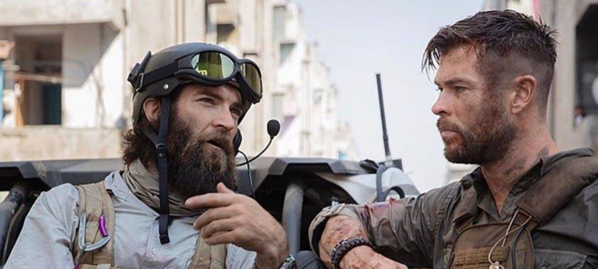 Resgate | Chris Hemsworth compartilha novas imagens dos bastidores