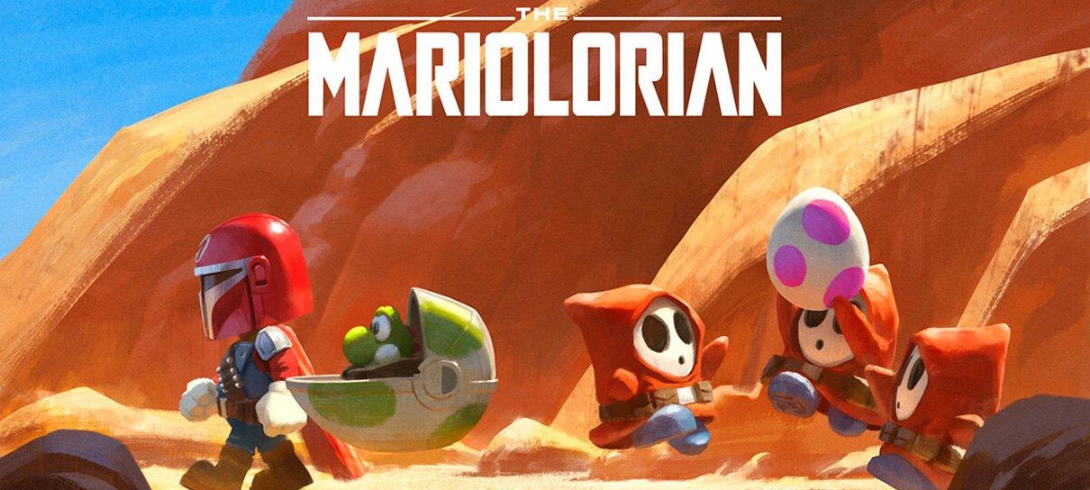 The Mariolorian: quando Mario Bros. invade o universo The Mandalorian, o resultado é ótimo