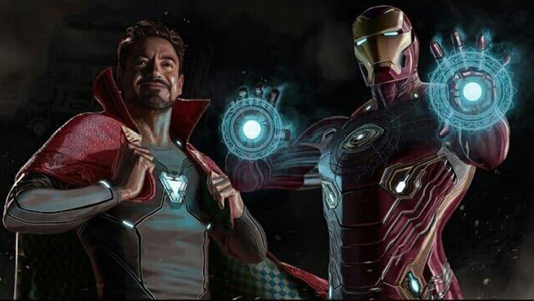 Vingadores: Ultimato   Tony Stark e Doutor Estranho trocam de