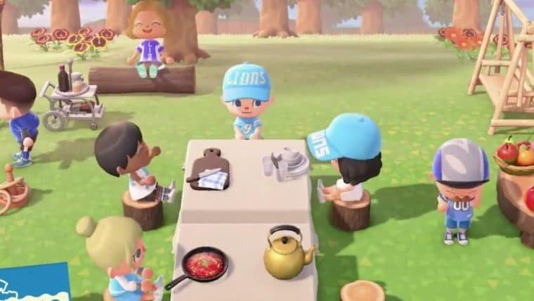 Time de futebol americano usa Animal Crossing: New Horizons para anunciar temporada 2020