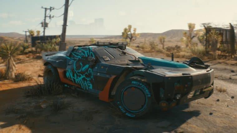 Cyberpunk 2077 revela carro inspirado em Mad Max: Estrada da Fúria
