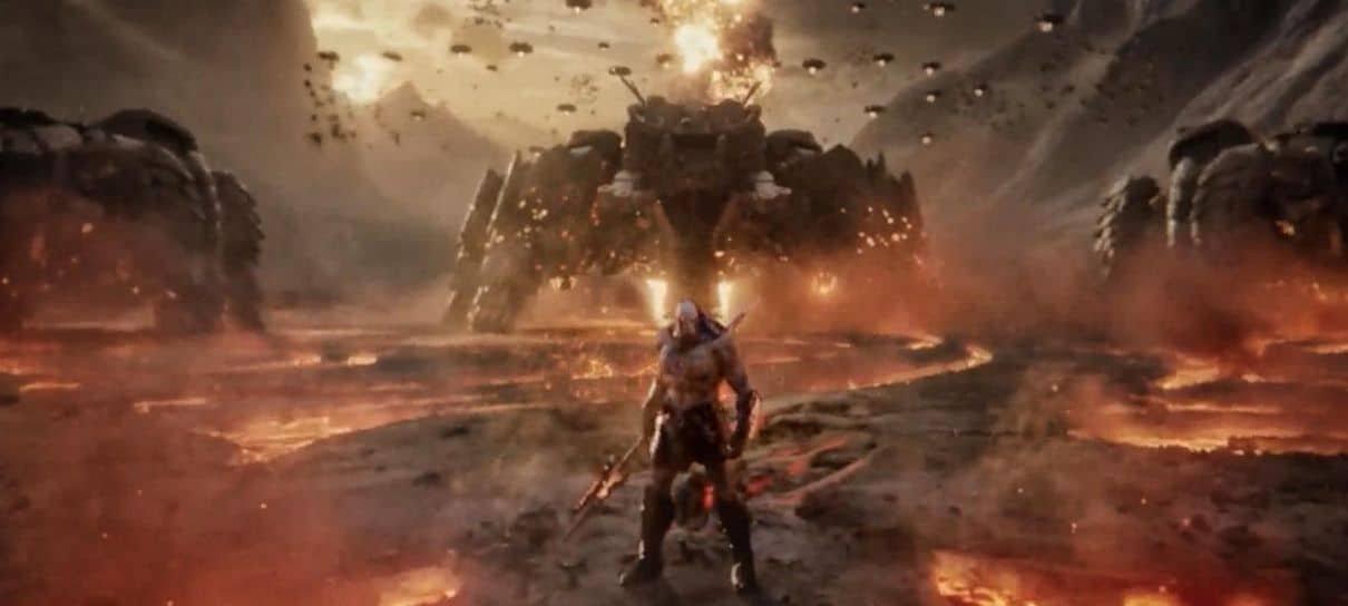 Zack Snyder revela foto de Darkseid no Snyder Cut de Liga da Justiça