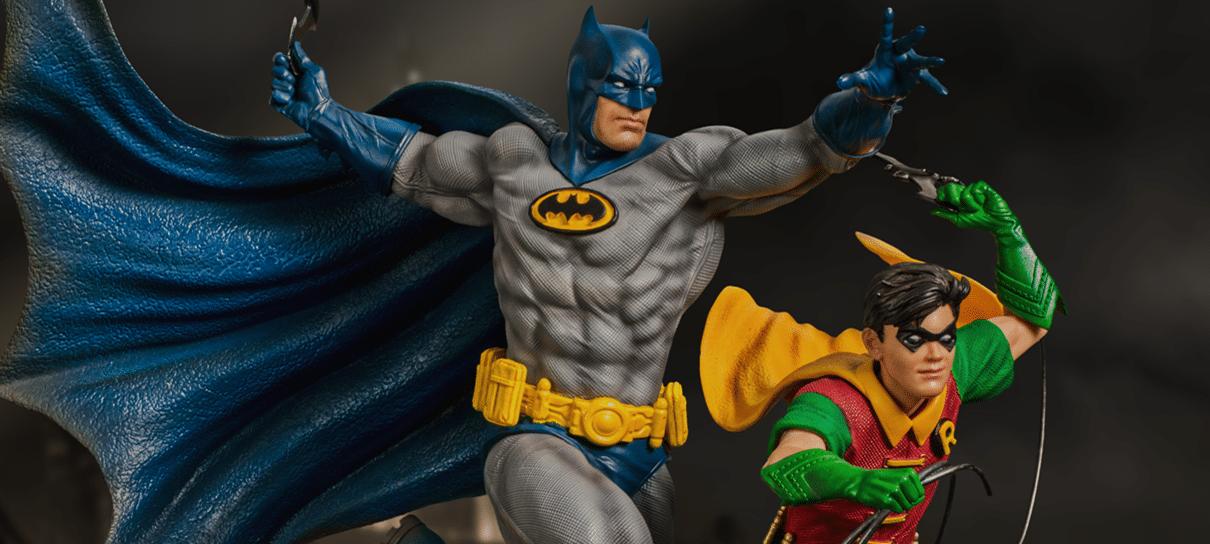 Iron Studios anuncia edição deluxe de estatueta com Batman e Robin