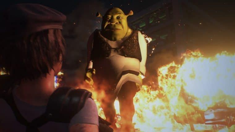 Resident Evil 3   Mod coloca Shrek no lugar de Nêmesis