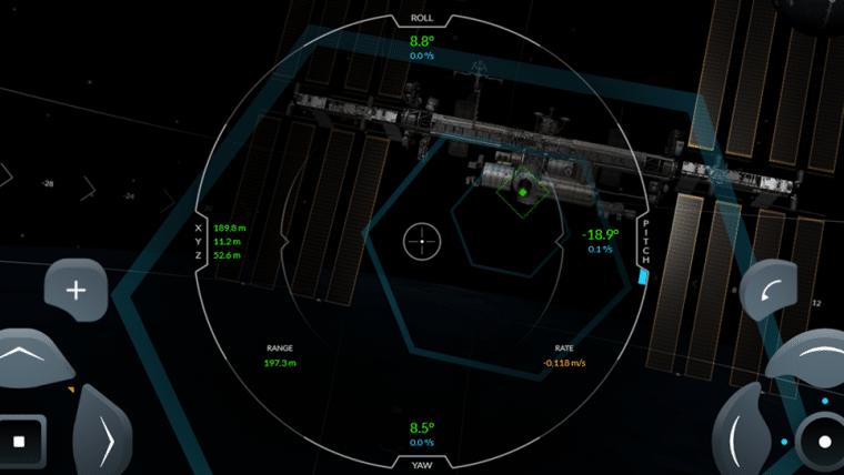 Estacione uma nave na Estação Espacial Internacional neste simulador