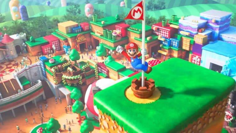 Foto aérea mostra que parque da Nintendo está praticamente pronto