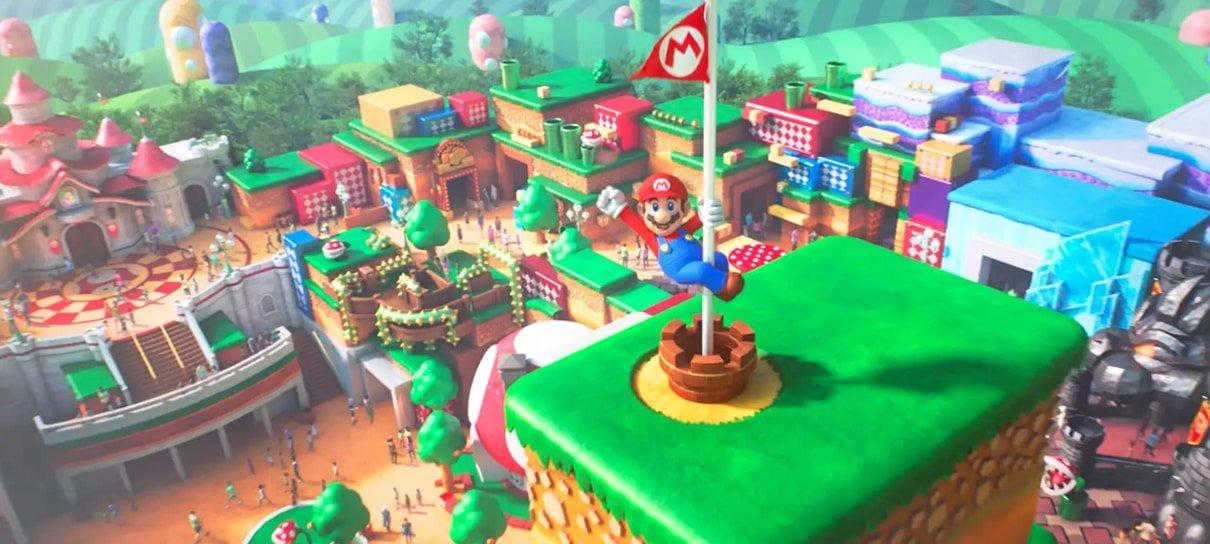 Foto aérea mostra que o Super Nintendo World está praticamente pronto