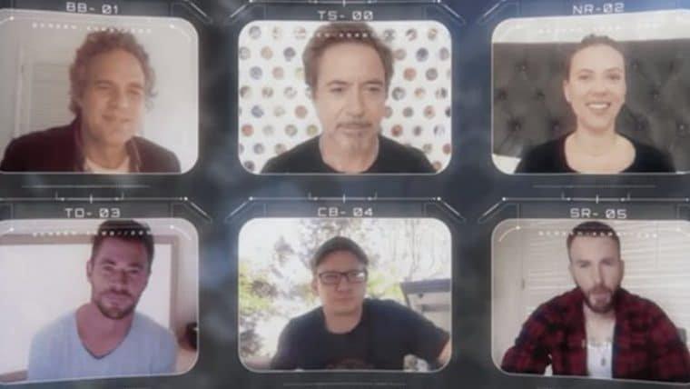 Vingadores originais se reúnem virtualmente em premiação