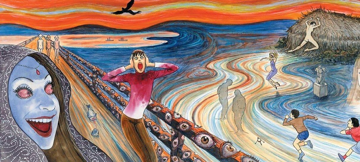Fragmentos do Horror é um mangá de Junji Ito que mistura o grotesco e o erótico
