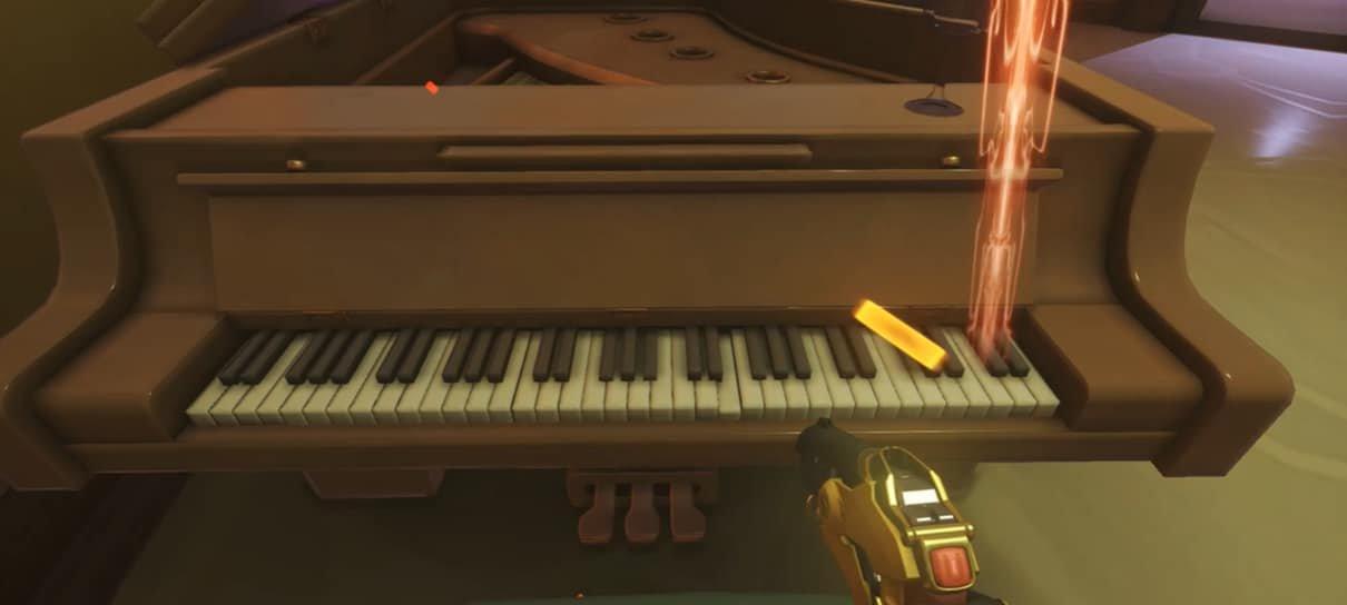 Jogadores de Overwatch estão tocando música clássica no piano do mapa de Paris