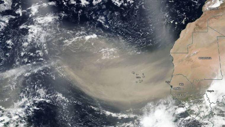 Nuvem de poeira do Saara está a caminho dos EUA e do Caribe