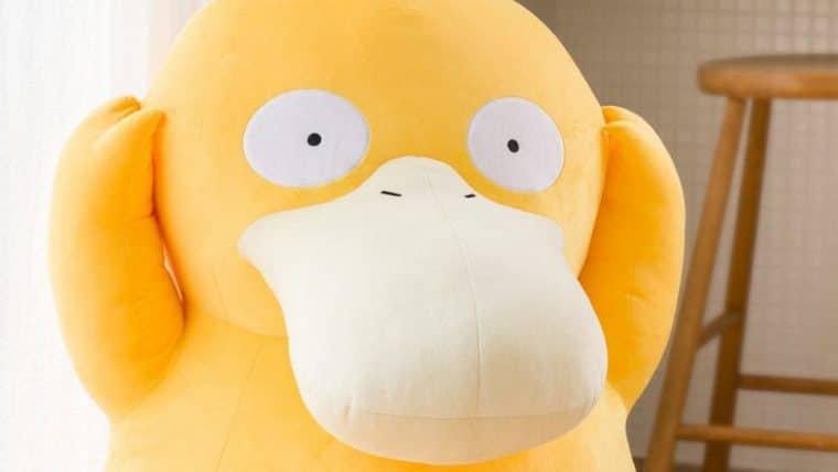 Pokémon Store anuncia pelúcia em tamanho real do Psyduck