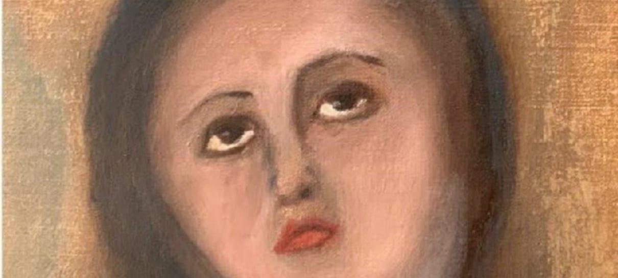 Quadro de Virgem Maria fica irreconhecível depois de restauração que deu muito errado