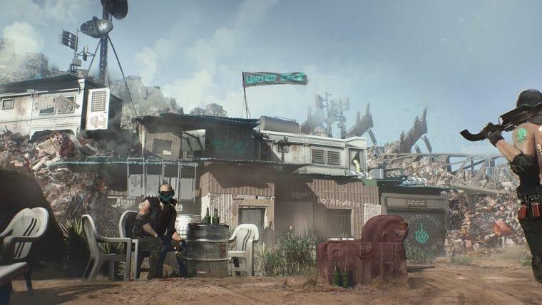 Artes conceituais de Cyberpunk 2077 exibem Badlands, um dos distritos de Night City