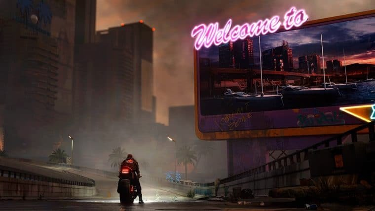 Artes conceituais de Cyberpunk 2077 exibem distrito de Night City