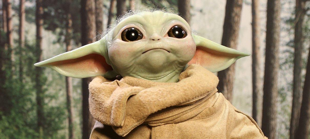 Colecionável do Baby Yoda em tamanho real ganha novas imagens mostrando detalhes